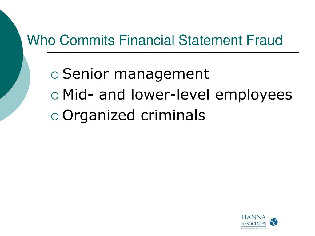 Who Commits Financial Statement Fraud