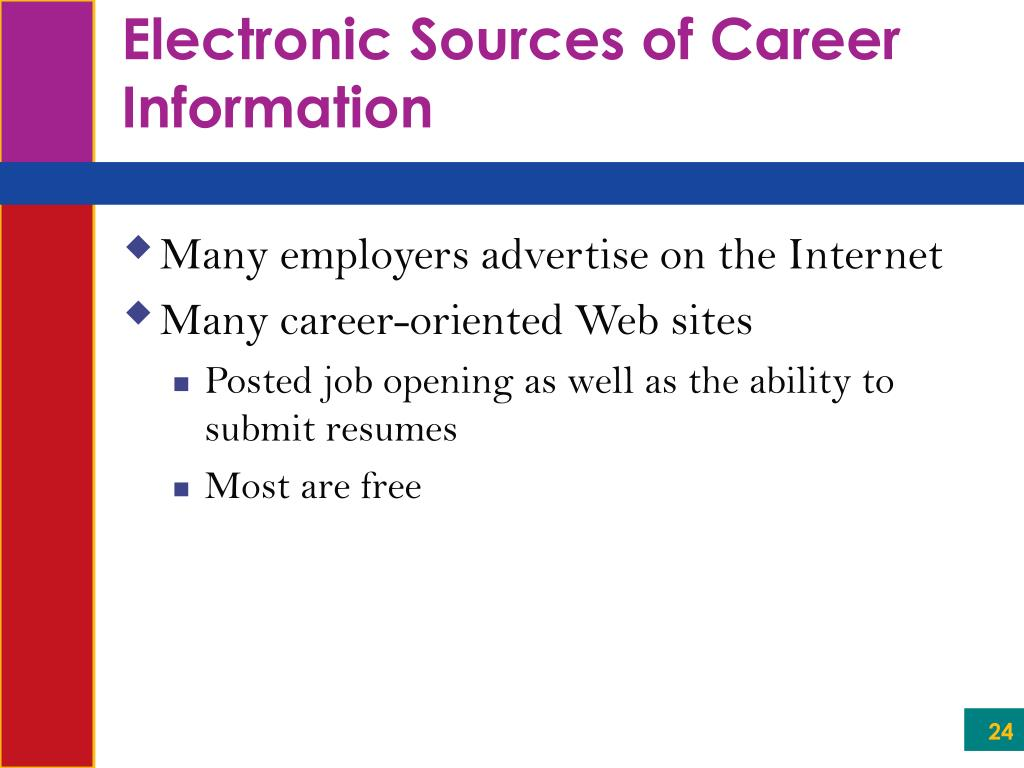 Electronic Sources of Career Information