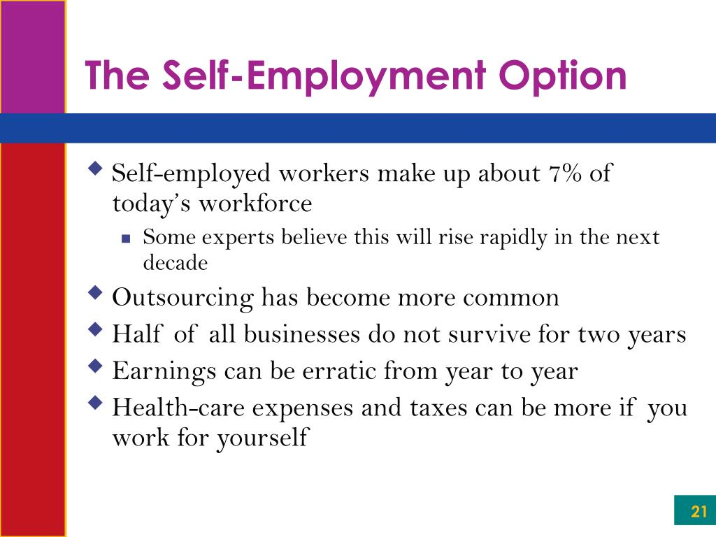 The Self-Employment Option