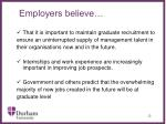employers believe