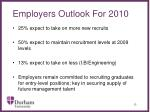 employers outlook for 2010