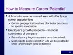 how to measure career potential18