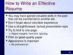 how to write an effective resume30