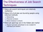 the effectiveness of job search techniques