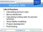 actuarial jobs