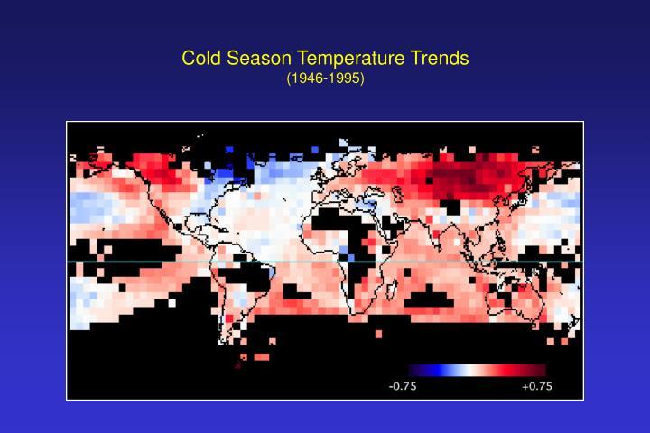 Cold Season Temperature Trends