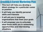 creating a career marketing plan