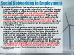 social networking in employment