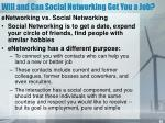 will and can social networking get you a job
