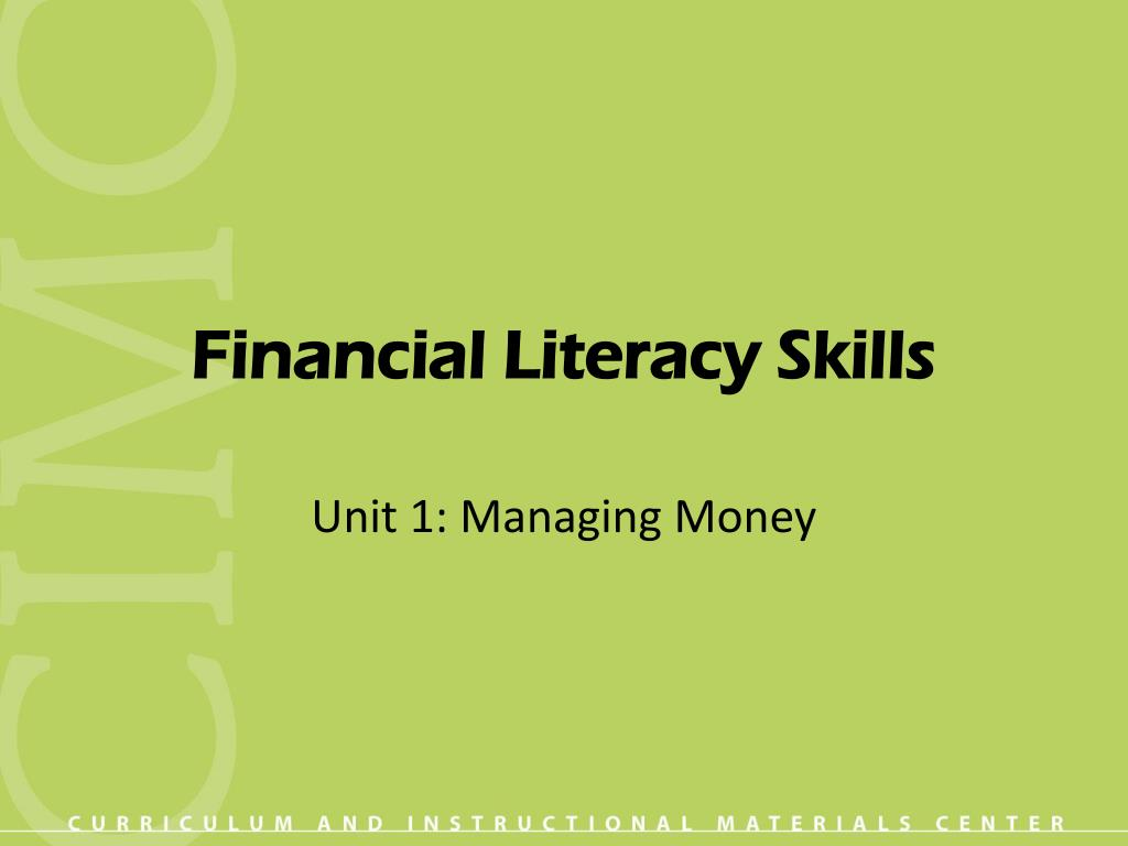 financial literacy skills l.
