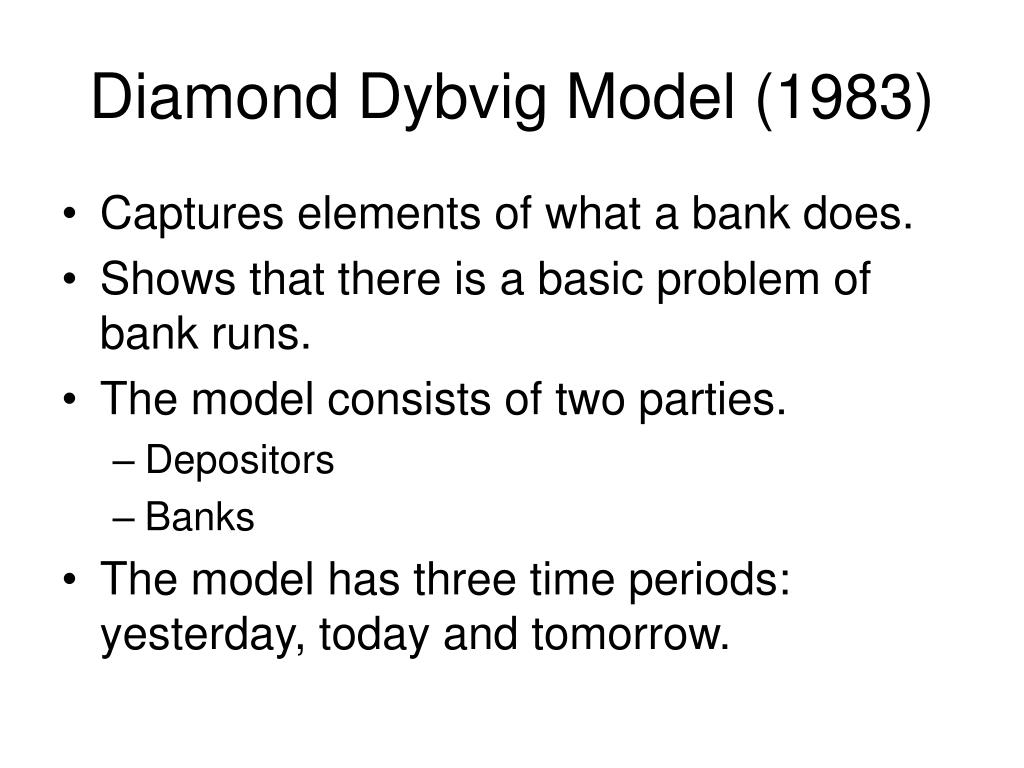 diamond dybvig model 1983