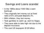 savings and loans scandal