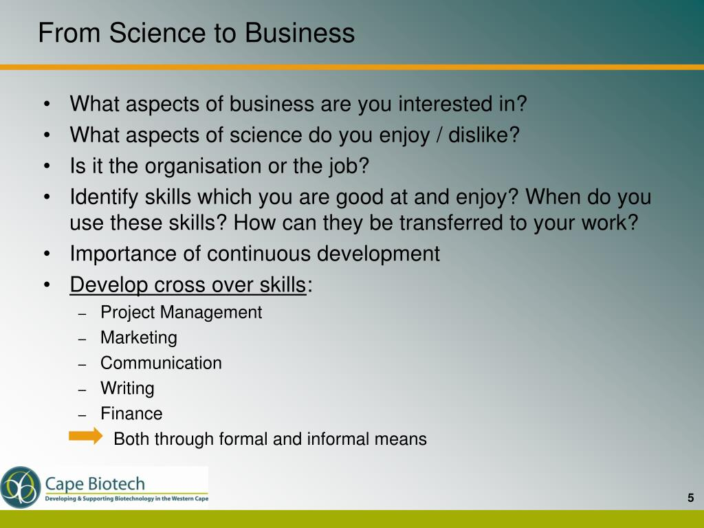From Science to Business