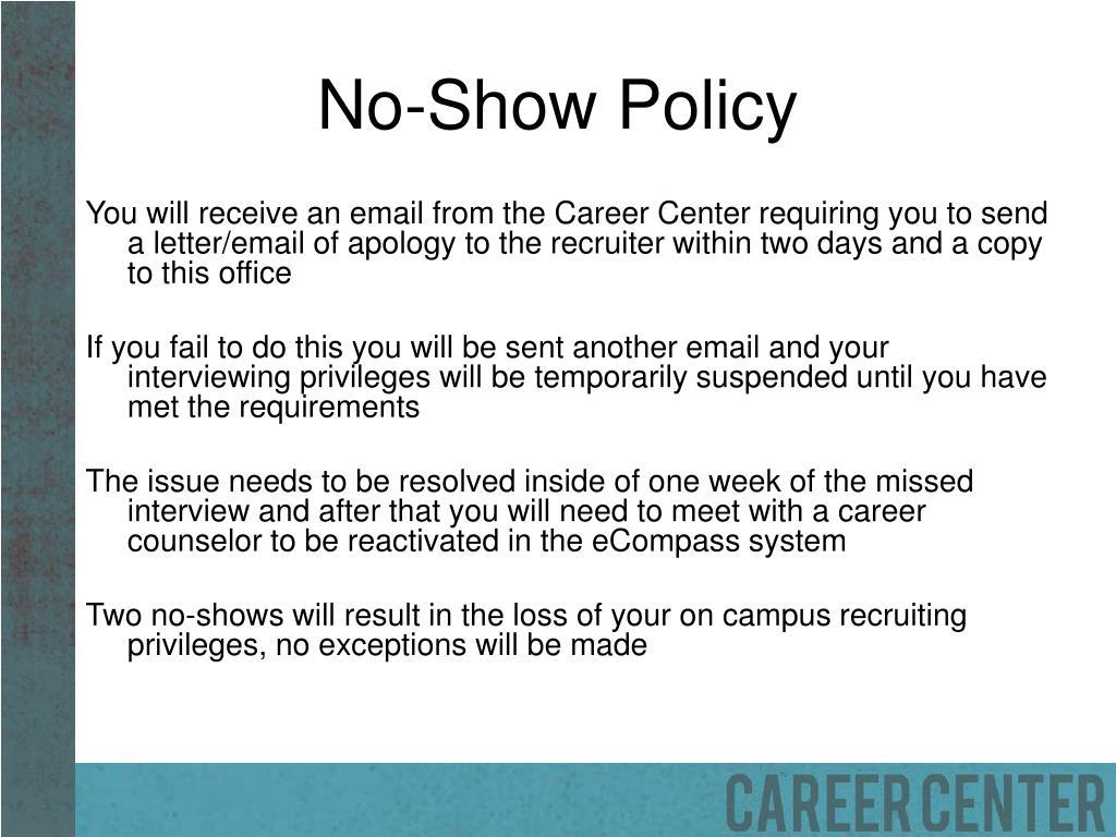 No-Show Policy