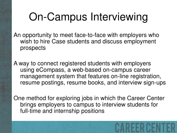 On campus interviewing
