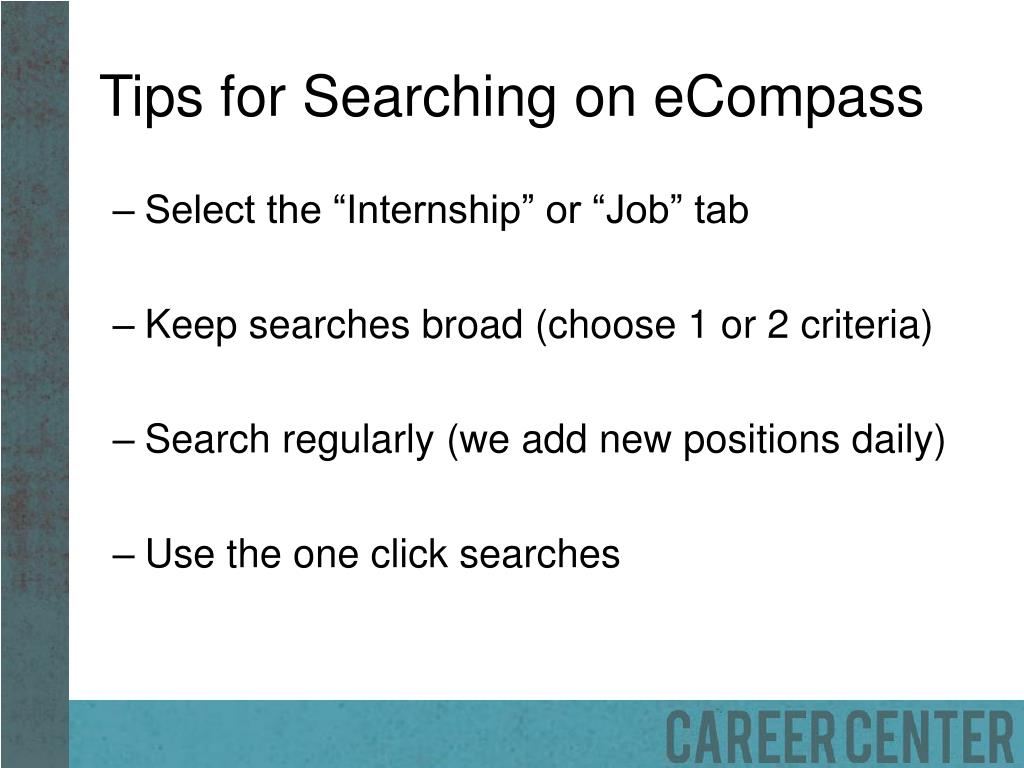 Tips for Searching on eCompass