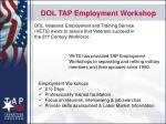 dol tap employment workshop