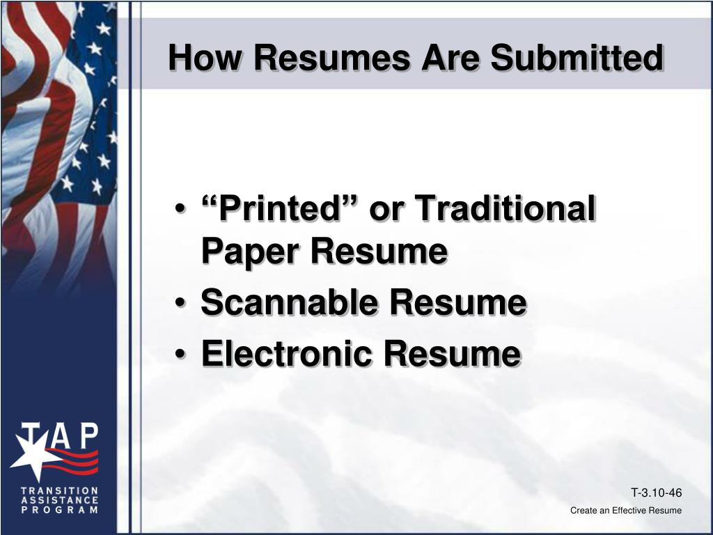 How Resumes Are Submitted