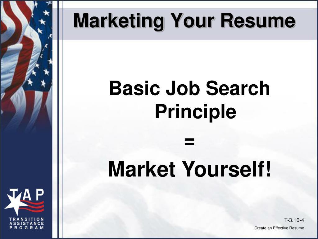 Marketing Your Resume