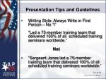 presentation tips and guidelines