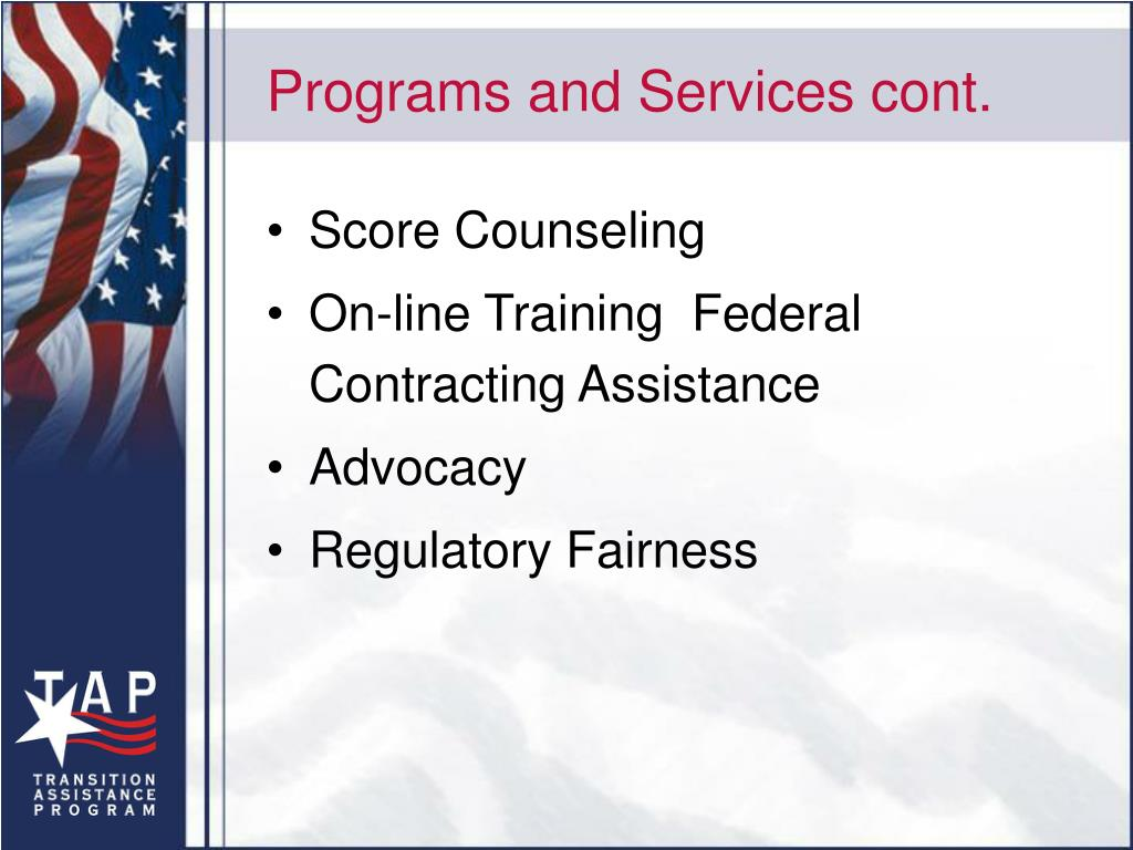 Programs and Services cont.