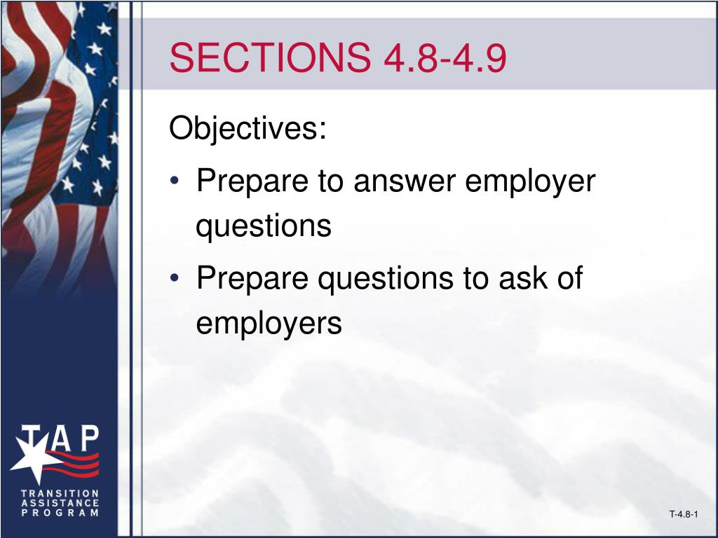 SECTIONS 4.8-4.9