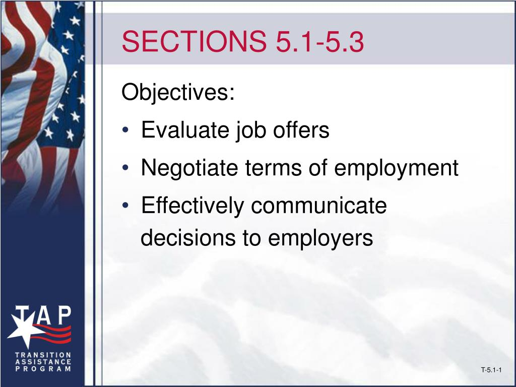 SECTIONS 5.1-5.3