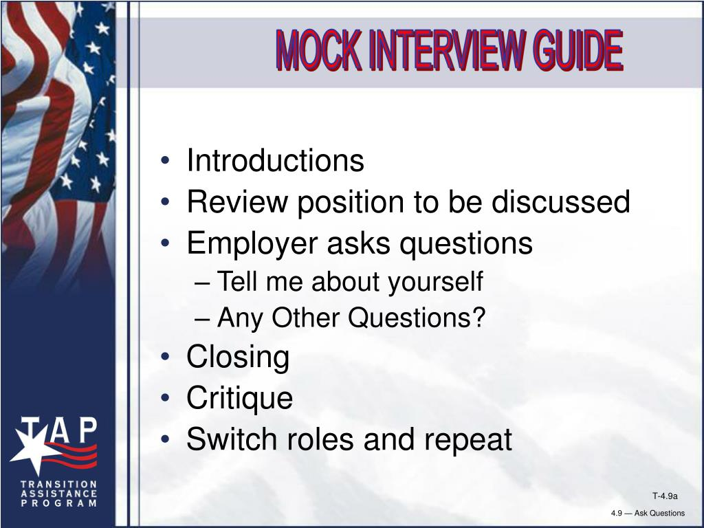 MOCK INTERVIEW GUIDE