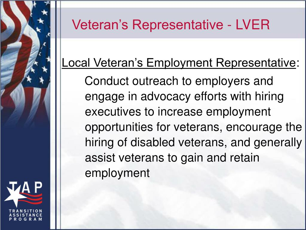 Veteran's Representative - LVER