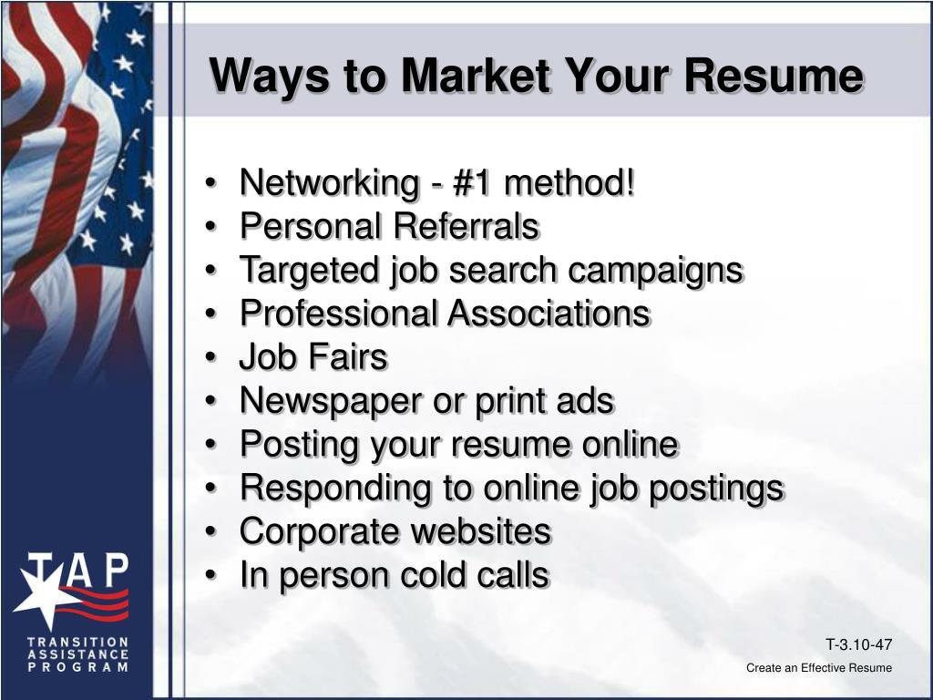 Ways to Market Your Resume