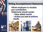 writing accomplishment statements