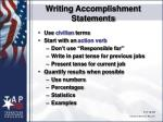 writing accomplishment statements77