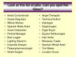 look at this list of jobs can you spot the fakes