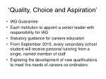 quality choice and aspiration