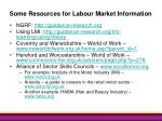some resources for labour market information
