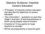 statutory guidance impartial careers education