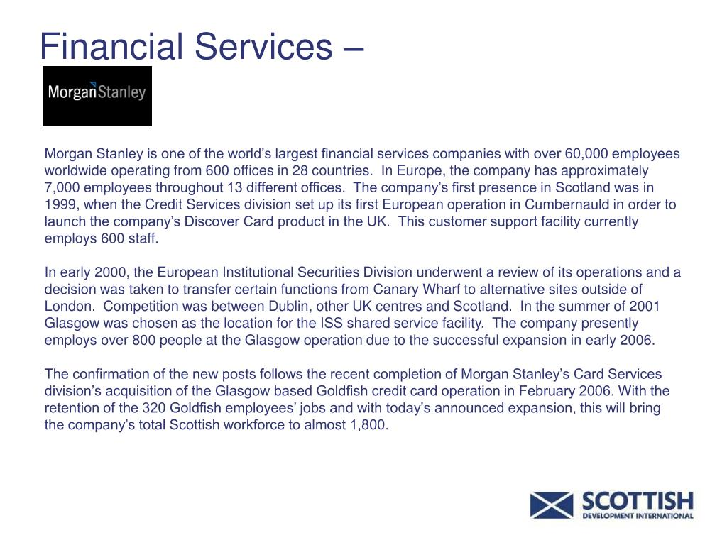 Financial Services –