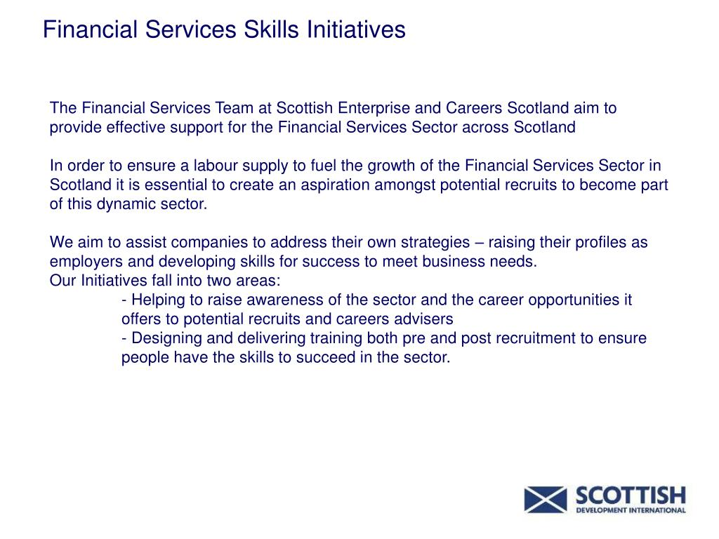 Financial Services Skills Initiatives