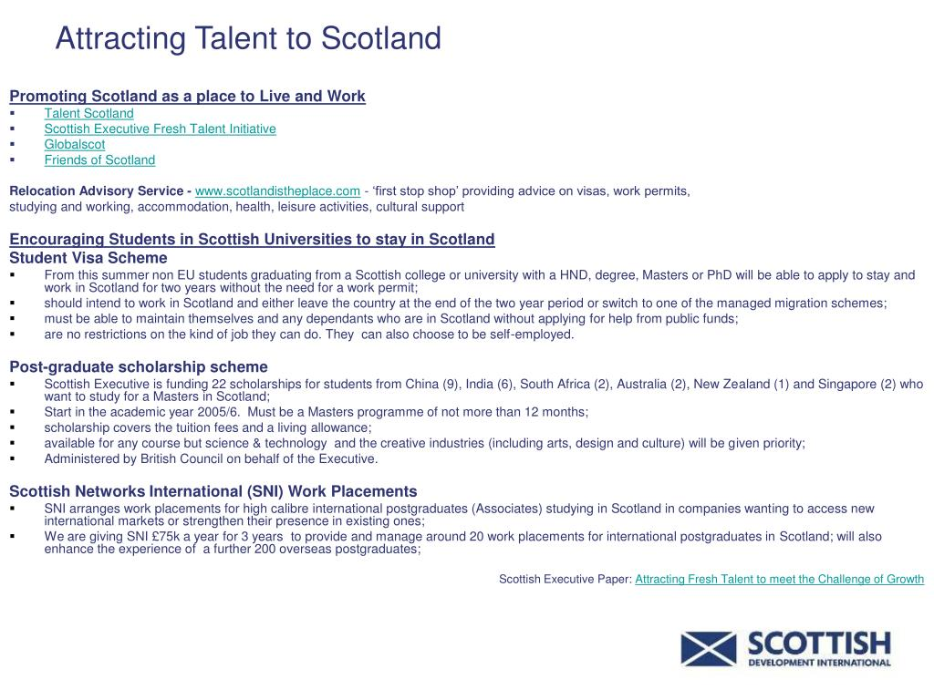 Attracting Talent to Scotland
