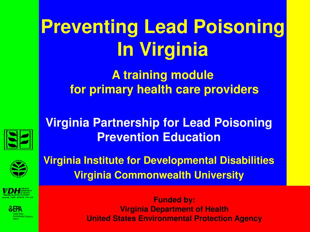 preventing lead poisoning in virginia a training module for primary health care providers l.