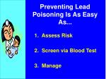 preventing lead poisoning is as easy as