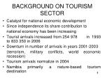 background on tourism sector