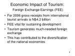 economic impact of tourism foreign exchange earnings fee
