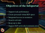 objectives of the infoportal