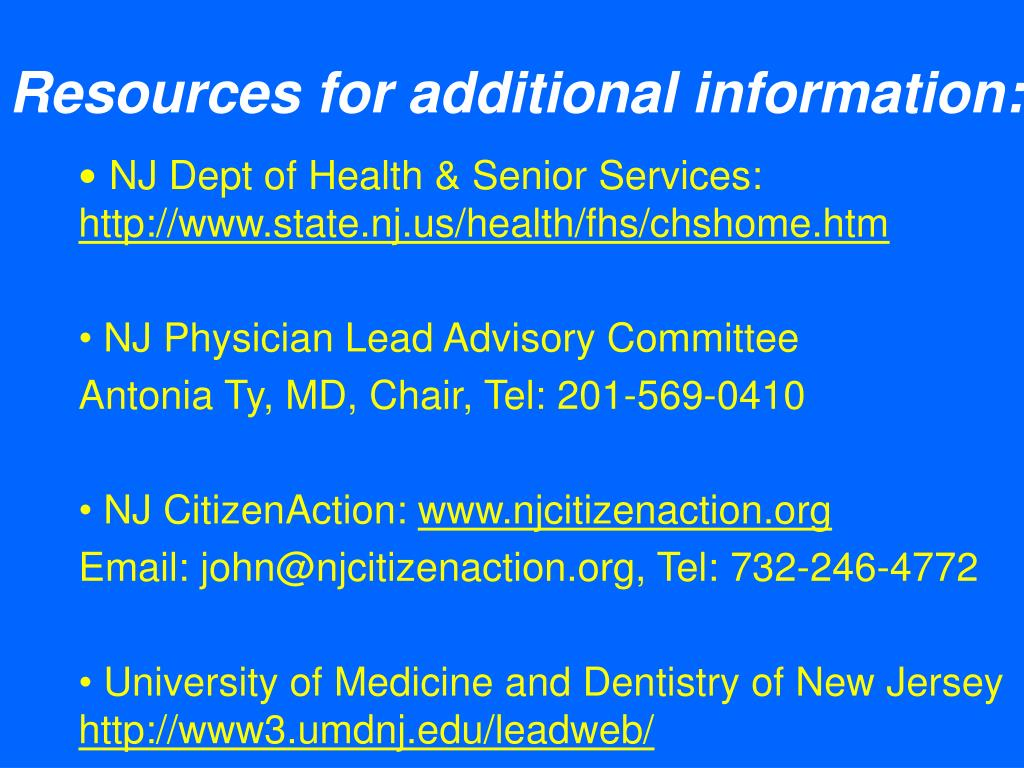 Resources for additional information: