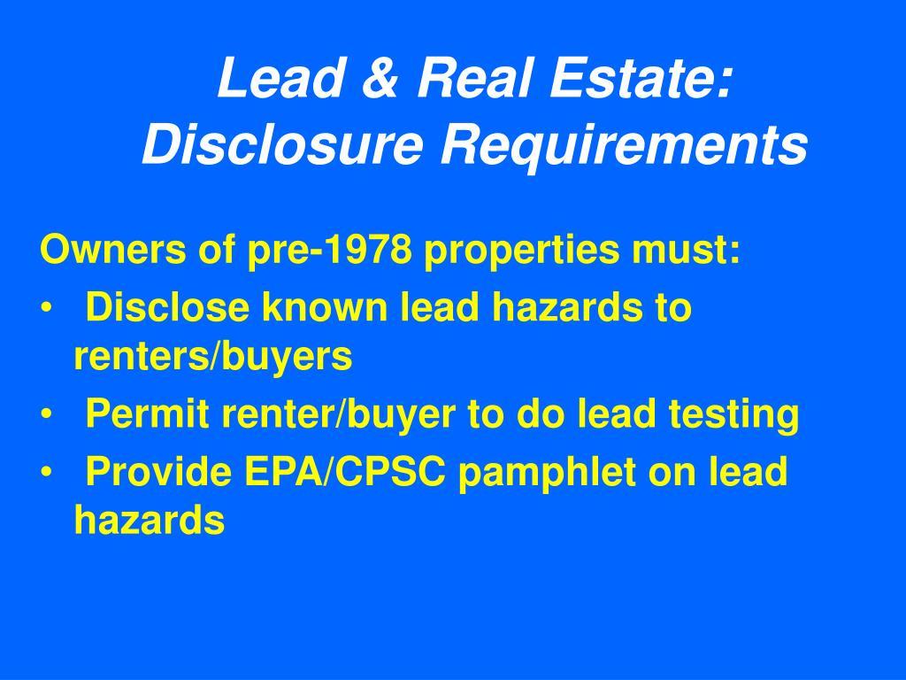 Lead & Real Estate: