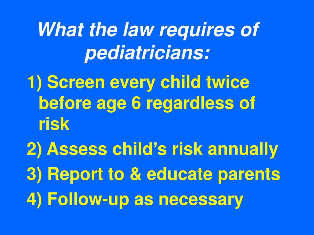 What the law requires of pediatricians: