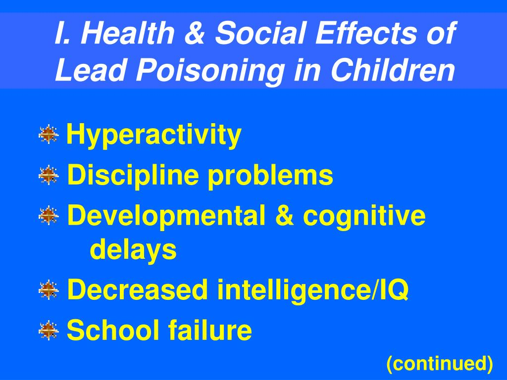 I. Health & Social Effects of