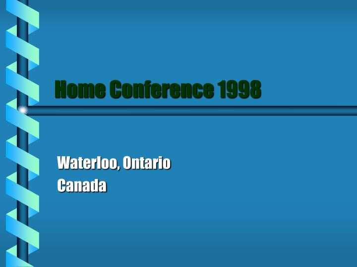 home conference 1998 n.