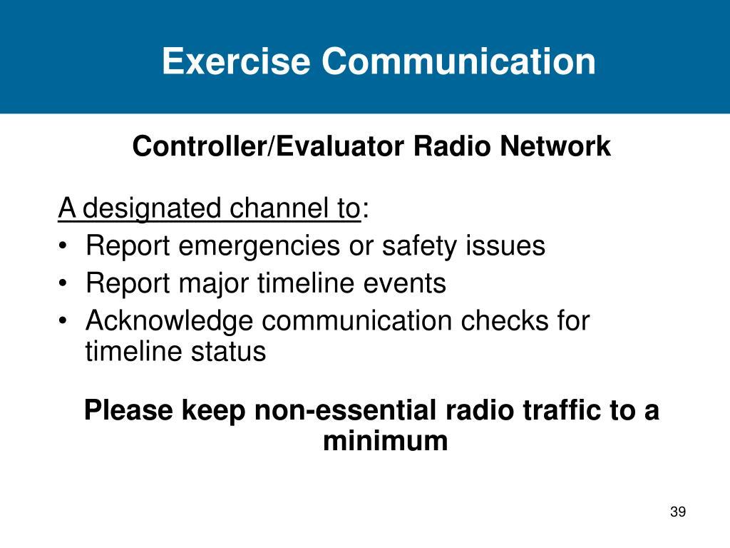 Exercise Communication